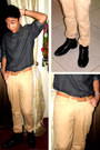 Leather-hush-puppies-boots-denim-shirt-pisanti-shirt