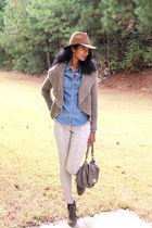 blue denim Target shirt - Old Navy jeans - taupe Marc by Marc Jacobs bag