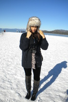 sunny day at beach during winter  time
