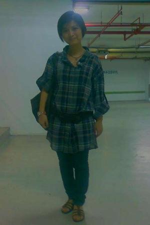 Kookai shirt - jeans - iimk belt - iimk shoes - Kookai accessories