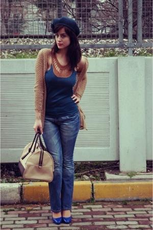 Topshop blouse - Vivid top - Levis jeans - Mudo accessories - Topshop hat - Mudo