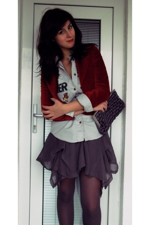 jacket - shirt - Topshop skirt - alexi andriotti accessories