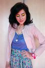 Pink-marks-and-spencers-jacket-blue-zara-t-shirt