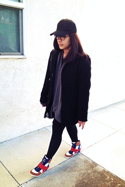 coat - sweater - Bamboo sneakers