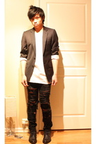 gianfranco ferre blazer - acne jeans - American Apparel t-shirt - asos shoes