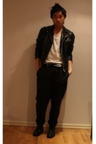 Mads Nrgaard jacket - American Apparel t-shirt - Cheap Monday pants - Rizzo shoe