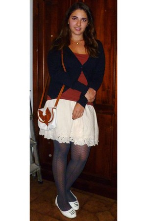 tawny leather bag italian brand bag - blue Sanpellegrino tights