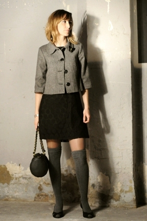 HyM dress - BLANCO jacket - Calcedonia socks - Tejus shoes