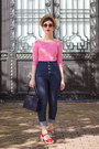 Navy-miss-sixty-jeans-red-retro-style-zerouv-sunglasses