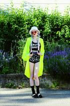 black Nasty Gal X Lazy Oaf shorts - white shopspacetrash necklace