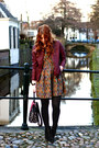 Dark-gray-suede-dolce-vita-boots-army-green-jacquard-dahlia-dress