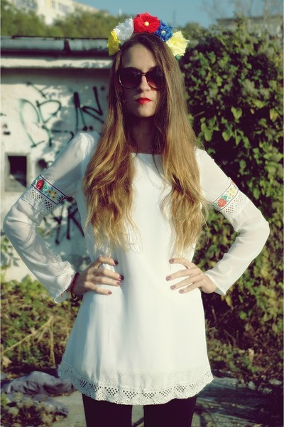 white chiffon dress
