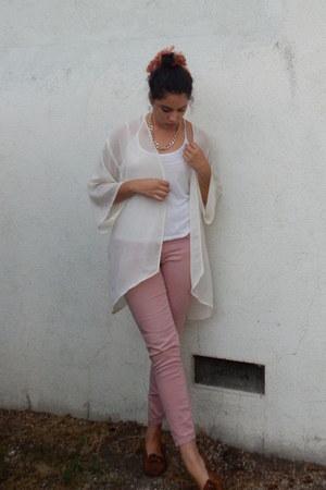 off white kimono sheer H&M cardigan