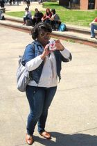 Charlotte Russe shoes - Target pants - baby phat jacket - Forever 21 sunglasses