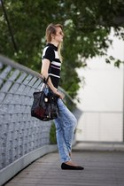 boyfriend Tally Weijl jeans - black Luca Stefani shoes