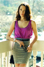 Amethyst-ny-co-top-heather-gray-bebe-skirt