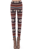 Chic Stripes with Snowflake Leggings