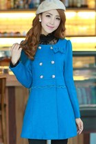 Women Girls' Bright Royal Sweet Classic Bowknot Coat