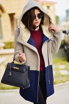 Color Block Hooded Coat