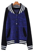 Blue Heather Button-up Cardigan