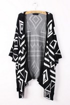 Geometry Graphic Batwing Cardigan