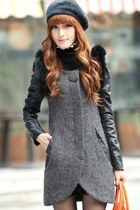 Cool Slim Standout PU Paneled Coat