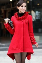 Must-have Chic Elegant High-Low Loose Ruffled Cape Coat