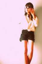 Forever 21 shorts - cream polo Marks and Spencer suit