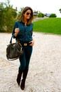 Navy-zara-blouse-dark-brown-pilar-burgos-boots-navy-hollister-jeans