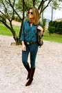 Navy-zara-blouse-dark-brown-pilar-burgos-boots-navy-hollister-jeans