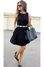 Black-zara-dress-black-prada-bag-black-mango-sunglasses-silver-zara-belt