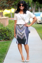 dark brown Worthington skirt - dark brown nicole miller sunglasses