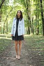Navy-zara-dress-light-blue-zara-jacket