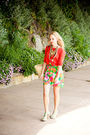 Orange-gap-top-green-oxfam-skirt-green-kenzie-shoes-old-necklace