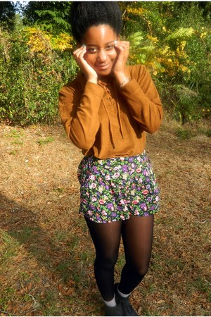floral Forever 21 shorts - Goodwill blouse