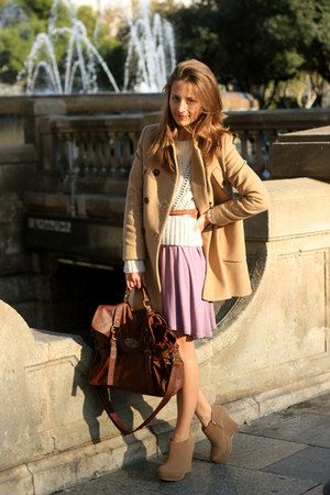 BLANCO shoes - Topshop dress - Zara coat - Bershka sweater - BLANCO bag