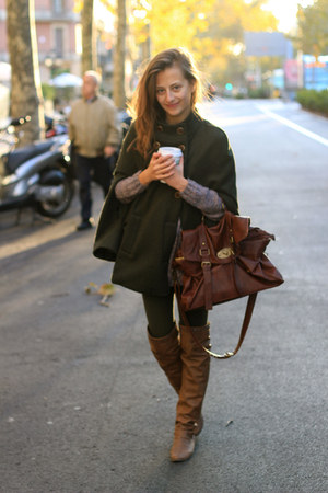 army green Zara coat - brown Coolway shoes - dark brown BLANCO bag