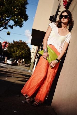 chartreuse clutch American Apparel bag