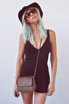 Hair accessories - knit Urban Outfitters dress - RVCA hat