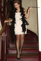 H&M dress - feather scarf