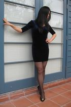 levante stockings - Mink Pink dress - Mimco shoes