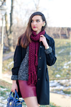 Tally Weijl scarf - Tally Weijl sweater - PERSUNMALL bag - H&M skirt
