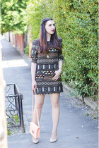 Sheinside dress - H&M bag - Zara heels