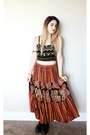 Top-hippie-maxi-skirt-bracelet-red-turquoise-ring