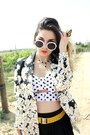Daisy-blazer-moschino-blazer-white-sunglasses-corset-pins-and-needles-top