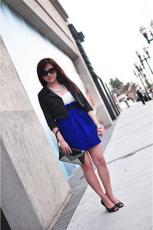 Forever 21 necklace - Forever 21 dress - Michael Kors sunglasses - Connie heels
