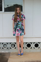 blue Rubi shoes heels - teal OASAP dress