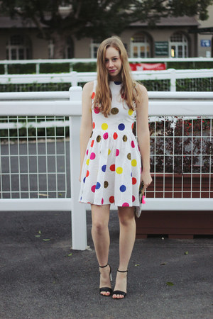 gold Rings and Tings ring - white Paint the Town dress