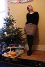 Camel-primark-skirt-black-brora-sweater