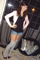 black Gap t-shirt - forever sweater - Guess shorts - Target socks - Steve Madden